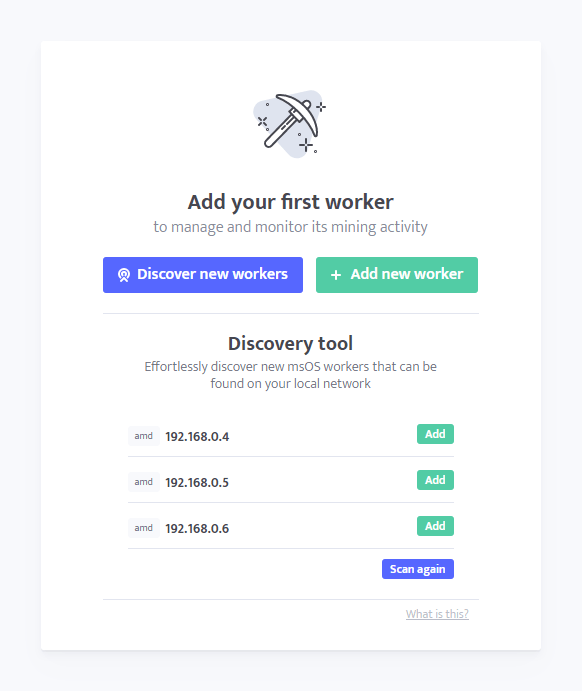 minerstat: Discovery Tool - Screen 3