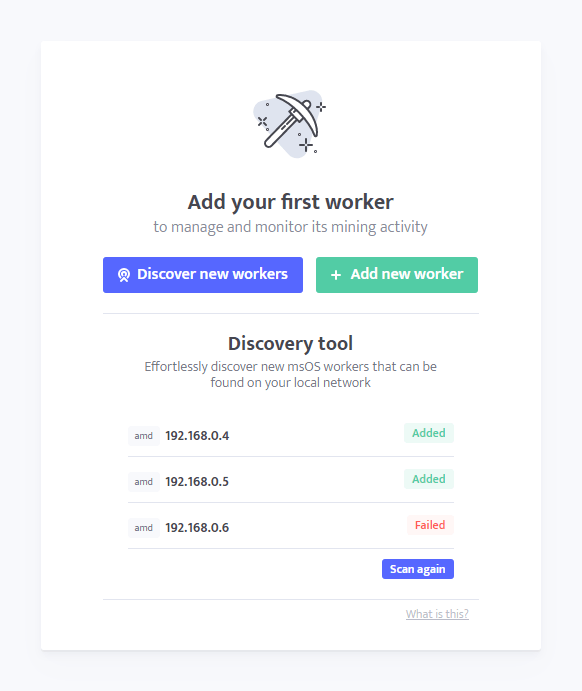 minerstat: Discovery Tool - Screen 4