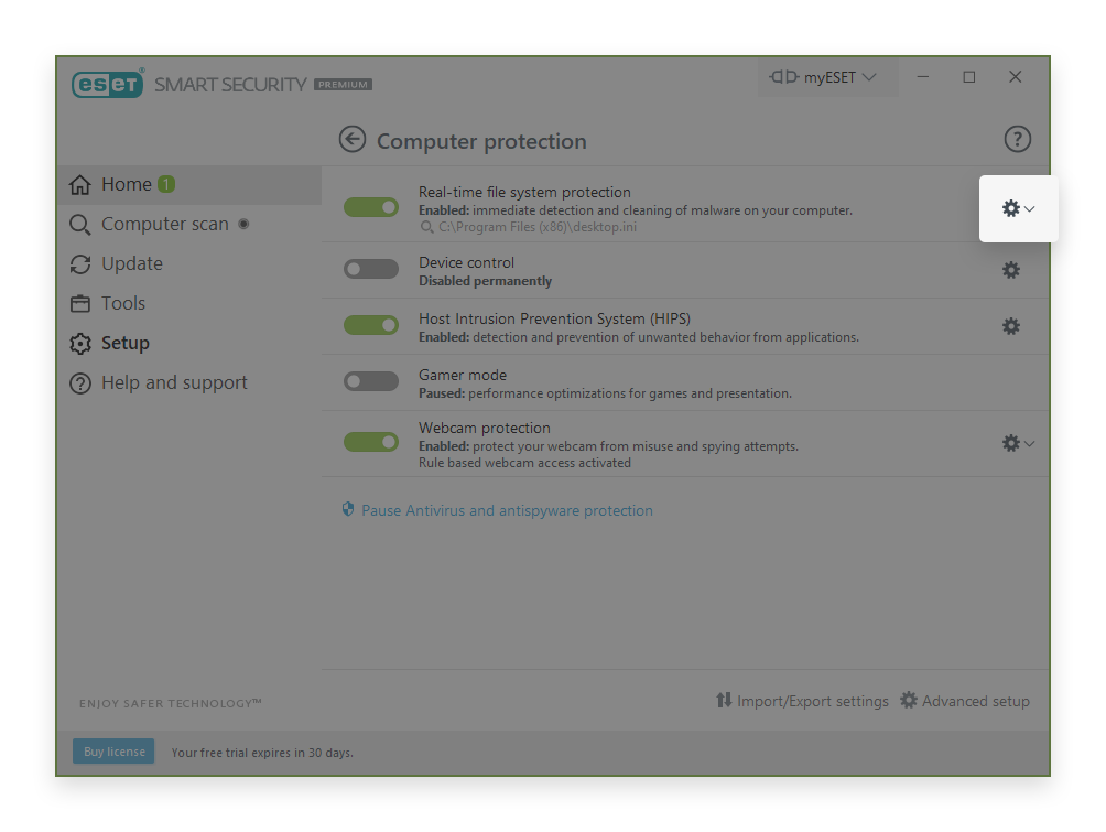 minerstat - Eset - Open Real-Time Protection
