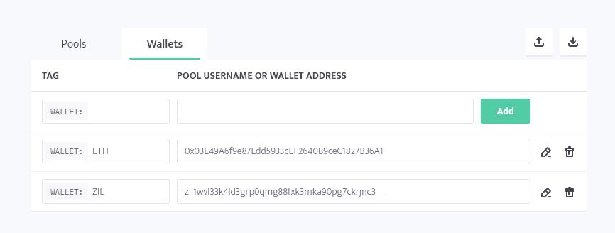 minerstat - ETH+ZIL wallet