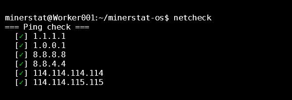 minerstat netcheck: Ping check