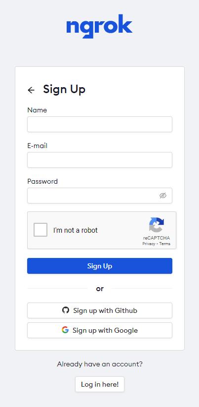minerstat - ngrok registration