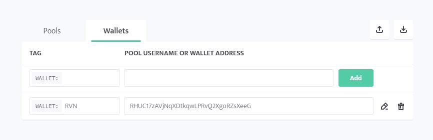 minerstat - RVN wallet