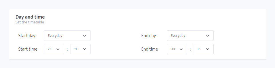 minerstat - Scheduler - Day and time - Everyday