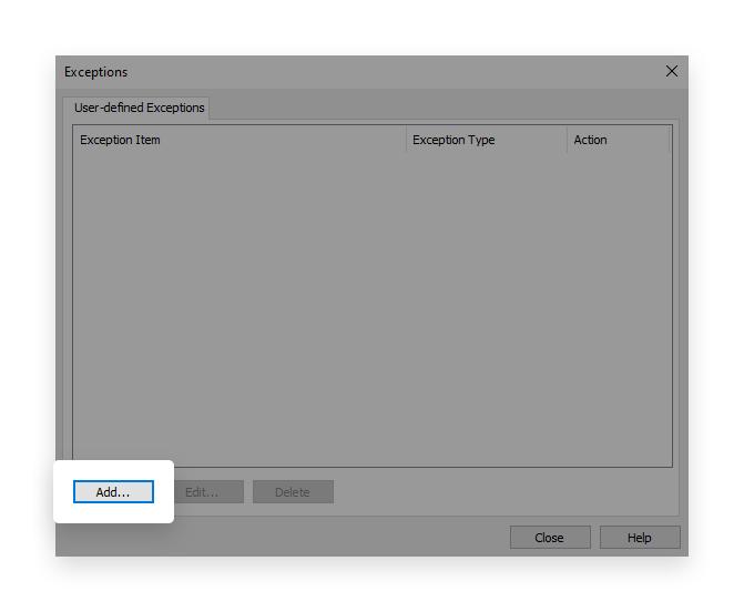 minerstat - Symantec - Exceptions - Add