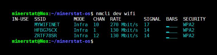minerstat - WiFi list