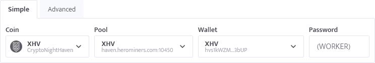 minerstat - XHV config