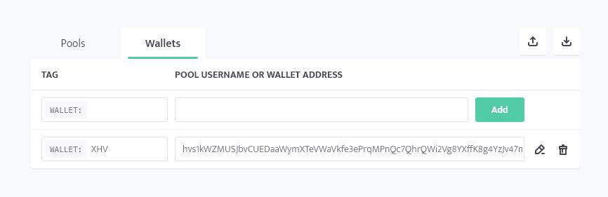 minerstat - XHV wallet