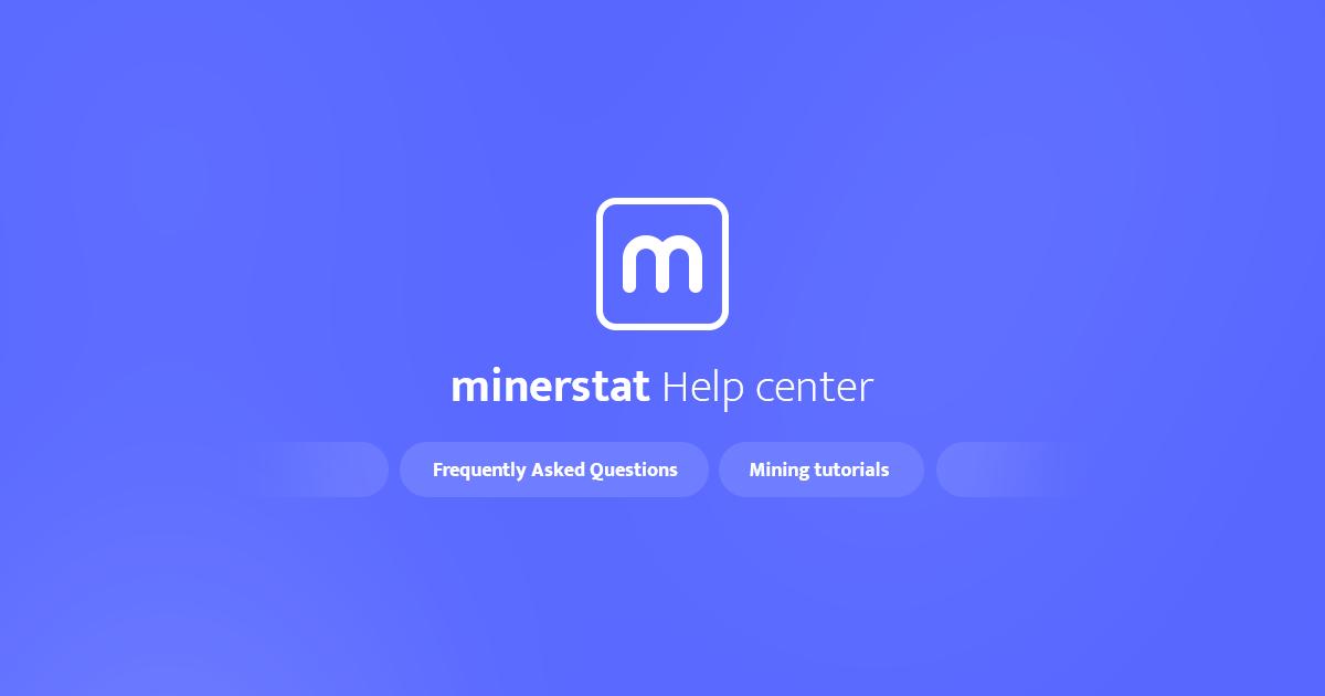 Mining software | minerstat help